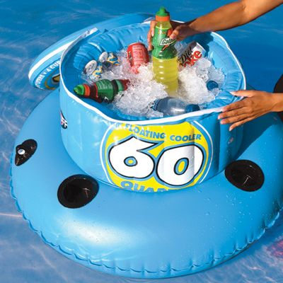 Wake Make any day spent relaxing at the pool or on the water a more enjoyable experience with the aid of the SportStuff 60 Quart Floating Cooler. Keeps refreshments close at hand so you're never without a cool beverage on those hot summer days. Full circumference zippered lid. Four color-coded cup holders keep opened drinks identifiable, Molded PVC comfort grip handles and PVC bladder. Heat-sealed seams. Safety valves and reinforced grommet. Type: Cooler. - $39.99