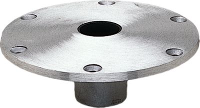 Motorsports Spring-Lock bases are made of cast aluminum with a brushed satin finish. They accommodate any 1.77 diameter pedestal. Available: 9 diameter round, 7 x 7 square. Type: Bases. - $61.99