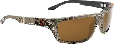 Hunting With all-day styling, SPY Optics Kash sunglasses have premium propionate frames for a sleek, dense finish that is modern, comfortable and durable. The Accurate Radius Curvature (Arc) lenses are made from impact-resistant polycarbonate, and the eight-base curvature provides high-quality, optically correct, distortion-free vision. The Trident Polarized Lenses reduce 99.9% of blinding glare, allowing you to see more clearly and reducing eye fatigue. Five-barrel hinge system provides flex and comfort. 100% UV protection. - $124.99