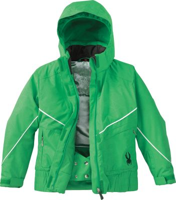 Warm and weatherproof for high-energy winter fun. Nonbulky, 140-gram Thermosoft insulation traps body heat. Stretch twill shell features a waterproof, breathable XT.L membrane for all-conditions comfort. Elastic hem panels for a better fit. Satin lining. Removable hood. Internal powder skirt. Imported. Sizes: 8-18.Colors: Raspberry, Kelly Quest Embossed. - $119.88
