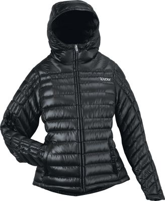 "Sweater-weight down jacket takes the chill out of a winter day. Baffled construction with 750-fill-power 90/10 goose down ensures superior warmth. Spylon durable water-repellent finish sheds moisture. Interior electronics pocket with cord portal. Ergonomic racer-shaped wrist cuffs seal in warmth. Attached hood. Downproof polyester nailhead-weave shell and polyester downproof dobby lining. Imported. Center back length: 25-1/2"". Sizes: S-XL. Colors: Black, Classic Green, Blue Abyss, Niagara Blue. - $144.99"