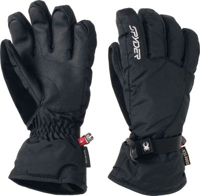 Ski Waterproof, breathable GORE-TEX construction keeps you dry in wet conditions, while 200-gram ThermaWeb insulation increases warmth on even the coldest days. Brushed tricot liners with pre-curved, articulated fit for all-day comfort. Nose wipe on thumb. Imported.Sizes: S-L.Colors: Black, White (not shown). - $49.88