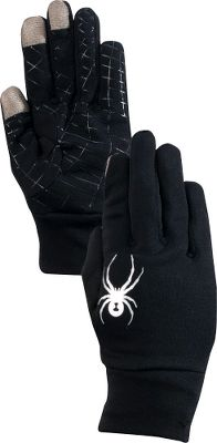 Take that important call or draft an elaborate text without taking your gloves off. Spyders polyester stretch-fleece gloves are constructed with conductive materials that are compatible with handheld touch screens, so you can operate your device with gloved hands. No-slip silicone on palms ensures your device wont slip from your grip. Imported.Sizes: S-L.Color: Black. - $29.88