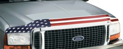 Motorsports Make your national pride and patriotic spirit well known to everyone by customizing the front of your pickup or SUV with the Stars and Stripes. And not only will you be showing your spirit, you'll actually be donating to the cause. With every sale a donation will be made to the New York Police, Fire Widows Children's Fund. The sleek, low-profile design matches the lines and contours of your vehicle for a sharp look while protecting your hood and windshield from bugs and stone chips. Best of all, installation is a snap, absolutely no drilling required. - $49.88