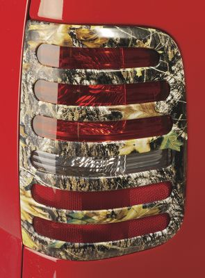 Hunting Add some extra protection for expensive taillight lenses, while adding a coordinating final touch to your vehicle. These durable, molded ABS covers have camo patterns with sharpened imagery infused during the molding process. That means they retain a sharp, detailed pattern even if scratched. They also withstand deterioration from UV light and cleaning compounds. Secure mounting is ensured by using automotive-approved 3M adhesive tape, and no-drill installation is fast and easy. Per pair.Camo patterns: Mossy Oak New Break-Up,Mossy Oak Duck Blind,Advantage MAX-4 HD,Realtree AP HD,Realtree APG HD. - $69.88