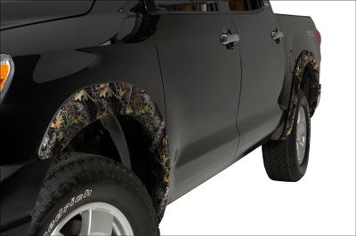 Hunting These fender flares have an OE look that enhances the body lines and offer an extra measure of protection from rocks, mud and road debris. Camo Patterns: Chrome, Clear, Smoke, Mossy Oak New Break-Up, Mossy Oak Duck Blind, Realtree APG, Mossy Oak Treestand, Realtree MAX-4, Realtree AP, Mathews Lost Camo. Color: Camo. - $549.99