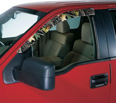 Hunting Keep windows partially open for ventilation without worrying about the wet seats from passing showers, and create a custom look that announces your passion for the outdoors. While driving, low pressure created by airflow provides suction to promote airflow. Install without tools.Available: Two Door, Four Door.Camo Patterns: Chrome, Clear, Smoke, Mossy Oak New Break-Up, Mossy Oak Duck Blind, Realtree APG, Mossy Oak Treestand, Realtree MAX-4, Realtree AP, Mathews Lost Camo, Mossy Oak Break-Up Infinity, Mossy Oak New Break-Up Pink, Mossy Oak Winter. - $84.99
