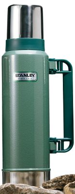 Stanley has been building durable, rugged products since 1913. Passed down from generation to generation, the Stanley vacuum bottle is an icon. With their classic hammertone green finish, these bottles are built to last. This 44-oz. Classic Bottle keeps contents hot or cold for 24 hours. Double-wall vacuum insulation. Durable rustproof finish. Color: Hammertone Green. - $39.99