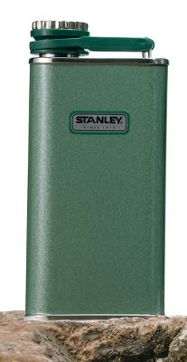 Stanley has been building durable, rugged products since 1913. With their classic hammertone green finish, they're built to last. This 8-oz. Classic Flask sports a retro design with a slim profile. Wide-mouth opening. Odorless, tasteless, rustproof. Color: Hammertone Green. - $24.99