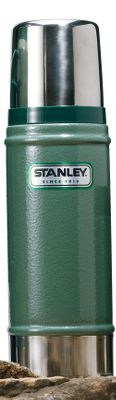 Stanley has been building durable, rugged products since 1913. Passed down from generation to generation, the Stanley vacuum bottle is an icon. With their classic hammertone green finish, these bottles are built to last. This 16-oz. Classic Bottle keeps contents hot or cold for 15 hours. Packable size. 8-oz. lid doubles as a drinking cup. Colors: Navy, Green. Color: Hammertone Green. - $29.99