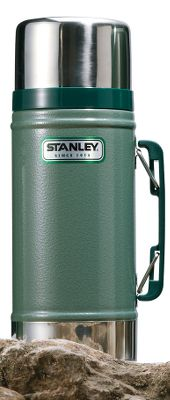 Stanley has been building durable, rugged products since 1913. With classic hammertone green finish, this container is built to last. This 24-oz. Classic Food Jar that keeps food hot or cold for 15 hours. 12-oz. lid doubles as a bowl. Easy-pour stopper. Rustproof. Color: Hammertone Green. - $31.99