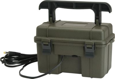 Hunting This 12-volt lead acid Battery Kit provides extended field life. It includes a battery, AC charger, Weather resistant and Weather resistant cord. Compatible with the 2008 Stealth Cam scouting cameras and newer. - $59.99