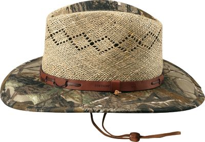 Entertainment Show your outdoorsman's pride with this Stetson. Woven-straw crown with Realtree camo brim. Imported. Color: Natural/Realtree . Sizes: S-XL. - $59.99