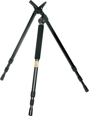 "Entertainment The Tripod is equipped with Stoney Point's innovative PoleCat system. This unique stabilizing system quickly and easily converts from a bipod to a tripod in just seconds. All legs are constructed of lightweight rugged aluminum, telescope silently into position and lock securely in place.Available:16""-38""25""-62"" - $54.88"