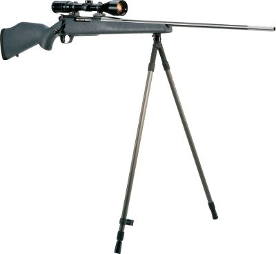 "The convenience of this snap-on bipod cannot be overstated. Unlike others that are either permanently attached or take some fiddling with, the Rapid Pivot snaps silently and quickly onto your stock, and detaches just as swiftly. It also pivots 360 , so you can follow moving targets. Attaches directly to swivel stud and still allows for slings to be attached. Available: Prone 10""-13""Sitting 25""-43"" Standing 36""-64"" - $29.88"