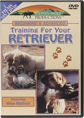 Hunting Learn all the techniques to turn your retriever puppy into a well-trained hunting companion with these videos. Mike Mathiot takes you from the beginning of the training regimen through the final touches. The DVD has both selections on one disc and is set up in a chapter format that permits fast referencing.In Beginning Training for Your Retriever, you'll see Mathiot's step-by-step approach to produce a pup ready for advanced training. It also includes socialization of a puppy; bringing out natural retrieving instincts; obedience; whistle training; water and bird introduction; and beginning steadiness. 46 minutes.Advanced Training for Your Retriever shows training techniques and finishing methods, including completing steadiness to shot; hunting situation retrieves; multiple, blind and long-range retrieves; obedience polishing, and quartering. 46 minutes.Available: DVD. - $24.88