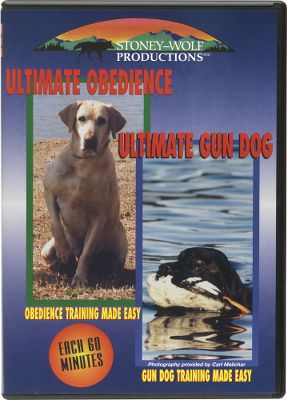 Hunting This DVD is perfect for training your hunting dog from start to finish. Features the expert techniques of professional trainer John Kabbes. You get Ultimate Obedience and Ultimate Gun Dog all on one convenient DVD. 120 minutes. The Ultimate Obedience DVD walks you through the problems you will encounter when laying down the basis for advanced training. Sit, stay, heeling and establishing manners is all included. Great for the hunter starting a pup or for someone wanting an obedient companion. The Ultimate Gun Dog DVD helps you create an efficient waterfowl or upland hunting dog. Takes you and your obedience trained dog from beginner to expert. Force training/fetching, beginning and advanced retrieves, handling and lining along with many other issues are discussed and portrayed. Kabbes uses many unfinished dogs in order to show the problems that you may encounter when training your dog. - $24.88