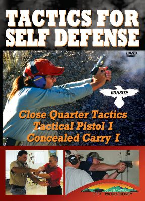 Gun-Site's new Tactics for Self Defense is full of valuable information for anyone looking to improve their self-defense skills. Lessons include close-quarter tactics, an introduction in handgun self defense and concealed carry. You'll be instructed by Jeff Cooper, Gun-Site founder, and his world-renowned Gun-Site Academy staff who are all experienced teachers for government personnel, military and civilians. 115 minutes. DVD. Type: DVD. - $11.88
