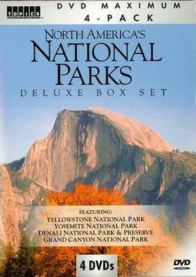 A DVD collection that lets you explore some of Americas most beautiful national parks without leaving home. Witness the power and majesty of Old Faithful geyser in Yellowstone: Fabric of a Dream. Gaze at massive sequoia trees in Mariposa Grove and see the beauty of the High Sierra in Spirit of Yosemite. Watch grizzly bears prowling in Alaskas Wild Denali and be awed by the breathtaking expanse of the worlds most famous canyon in The Grand Staircase Collections. Filled with overwhelming images of natures most glorious wildlife, waterways, wildflowers, sunsets, mountains and meadows, this DVD collection will take you on unforgettable journeys. 270 minutes. - $19.99