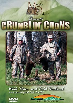 Hunting Join Todd and Steve Borland as they take you out for some daytime coon calling. With more than 15 years of experience calling raccoons day and night, they will detail the setup, the locations and the sounds to use throughout the season. Youll also see how to use decoys and learn what equipment is necessary for raccoon-hunting success. Rick Paillet of Verminator Predator Calls joins in the fun for some close-quarters bow action. Watch these pros bring the masked marauders in for some close encounters of the varminting kind. 88 minutes. DVD. - $7.88