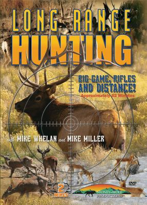 Hunting Improve your long-range hunting success. Mike Whelan and Mike Miller team up to give you a hunters-eye view of long-distance shots on 12 action-packed, big-game hunts. Watch fair-chase whitetails, muleys, elk, sheep and antelope drop with shots from 200-630 yards. Choose your rifle, caliber, cartridge and master the wind for ethical decisions and well-placed shots. 83 minutes. - $7.88