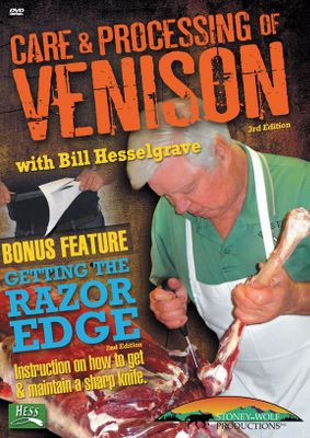 Hunting Bill Hesselgrave takes you through every step of processing your deer including field dressing, cleaning, skinning, caping, deboning, tying roasts and wrapping. The techniques you learn will work on all big game you harvest. As a bonus feature, Bill shows you how to choose a quality knife and how to maintain a razors edge on every knife you own; including hunting knives, household knives, fish fillet and meat processing knives. 160 minutes. - $12.99
