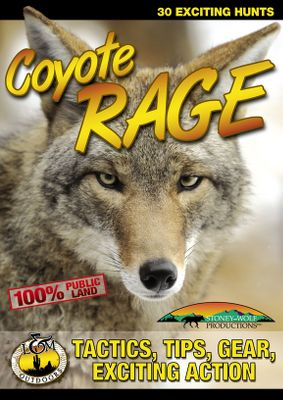 Hunting A compilation of 30 exciting hunts shot completely on public land. Plenty of action, along with in-depth hunting tips and gear segments demonstrating necessary predator calling equipment make Coyote Rage a must have for any predator hunter. 101 minutes.DVD. Color: Coyote. - $7.88