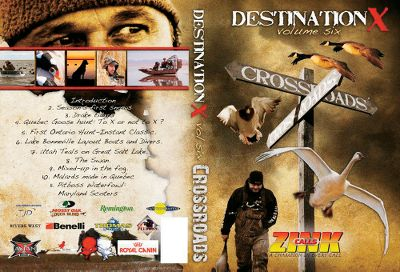 Join the Destination X team on their crossroads-filled 2010 season. Its high-definition of border-hopping, heart-pounding action in some of North Americas most breathtaking waterfowling venues. Come along on hunts in Quebec, Ontario, the mighty Chesapeake Bay, Utahs Rocky Mountains and Great Salt Lake. DVD. 120 minutes. - $14.99