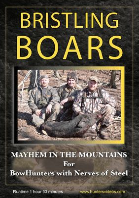 Entertainment Experience the extreme, pulse-pounding action of bowhunting wild boar in the Cumberland Mountains of Tennessee. TM Outdoors takes you face to face with unpredictable Russian boars in this intense, action-packed DVD. Witness the tusk clattering charge of a fierce angry boar as we place you in the midst of the action with exclusive hat-cam footage, and you are behind the bow riser for that split second shot-making decision. Terrific stalking and shot sequences lead you through the rugged terrain in pursuit of these tough-skinned hogs armed with razor sharp tusks, and a keen sense of smell. 50 minutes. - $8.88
