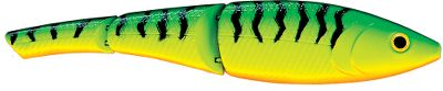 Fishing A natural kicking action and slow-sinking design mimic a struggling baitfish. Segmented swimming action targets fish in freshwater and saltwater. VMC hooks. Runs 1-2 ft. Per each. Sizes: 5 , 2/3 oz. 6 , 1-1/2 oz. Colors: (589)Firetiger, (590)Chrome Perch, (594)Blue Chrome Orange, (595)Blue Steel Shad, (596)Chartreuse Purple Shad, (598)Gizzard Shad. Color: Chartreuse. - $6.88