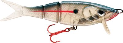 Fishing The Kickin Minnow features a segmented body with kicking tail for the ultimate in realistic underwater movement. The polycarbonate lip causes the bait to dive and enhances the baits tantalizing motion. Holographic WildEye drives fish nuts. Durable, soft-plastic body. Rigged with a premium red VMC hook. 10 model comes with two red treble hooks. Per each. Sizes: 4, 3/8 oz. 6, 1-3/8 oz. 10, 5-1/4 oz. Colors: ((002)Crystal Parrot, (004)Gizzard Shad, (005)Perch, (006)Pearl, (007)Purple Phantom, (008)Red Hot Chile, (353)Rainbow Trout. Color: Rainbow. - $3.99