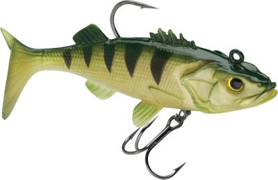Fishing Natural color patterns, shapes and holographic 3-D eyes make the WildEye Live Yellow Perch a realistic, strike-enticing bait that predator fish cant resist. Rigged with a VMC needle-point back hook and a treble belly hook. Per 3. Sizes: 2, 3/16 oz. 3, 1/4 oz. 4, 3/8 oz. Color: Yellow. - $4.88