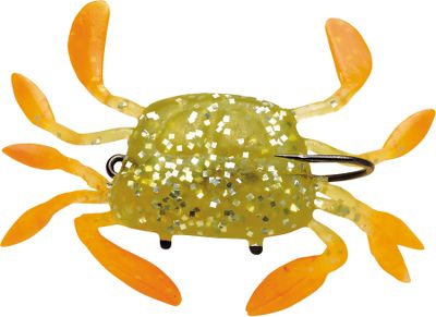 "Fishing Take on your favorite saltwater species with the highly realistic WildEye Live Swimming Crab. Natural color patterns, a lifelike swimming action, and holographic swimmin' flash foil combine to make this lure highly effective. Strong soft body with internal lead head. Rigged with a superior VMC needle-point hook. Per 3-pack.Size: 3"", 1/2 oz. Colors: (001)Blue Crab, (002)Fiddler Crab. - $2.88"