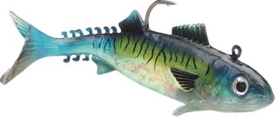 Fishing Take on your favorite saltwater species with the highly realistic WildEye Live Mackerel. Natural color patterns, a lifelike swimming action, and holographic swimmin' flash foil combine to make this lure highly effective. Strong soft body with internal lead head. Secure I-Bolt system holographic WildEye. Rigged with a superior VMC needle-point hook. Sizes: 3 , 1/2 oz. (5-pack) 4 , 3/4 oz. (5-pack) 5 , 1 oz. (4-pack) 6 , 1-1/2 oz. (4-pack) Color: Mackerel. Size: 5. Color: Mackerel. Type: Rigged Plastic Swimbaits. - $11.99