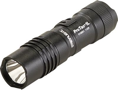 Camp and Hike Never get caught in the dark with this ultracompact multioutput StreamLight ProTac 1AAA flashlight. One of the brightest tactical lights designed for extended use. High, low and strobe settings provide lighting for any situation. Tactical, push-button tail switch for one-handed operation. Aircraft-grade aluminum body and impact-resistant, tempered-glass lens stand up to the toughest abuse. Shockproof C4 LED with solid-state power-regulation technology delivers maximum light output throughout battery life. Features Ten-Tap Programming for high, low and strobe light. Anti-roll facecap and unbreakable pocket clip keep this flashlight from rolling away. Waterproof to 1 meter for up to 30 minutes. One AAA battery and nylon holster included. 3.94L. Output: 70 lumens for 30 minutes (High); 5 lumens for 11 hours (Low); 1.2 hours (Strobe). Wt: 1.3 oz. with battery. - $33.99
