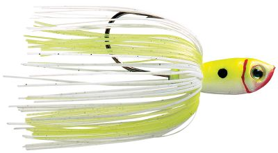 Fishing This new Premier Plus spinnerbait features the latest in skirt design with the Perfect Skirt. The Magic Tails serve as trailers, making this the ultimate skirt for the ultimate spinnerbait. Each painted head is matched to the skirt. Comes pre-rigged with a Sabre Point trailer hook. Double Colorado blades. Per each. Size: 3/8 oz. Colors: (003)Chartreuse/ White, (004)Super White, (012)Red Crawfish. Color: Chartreuse. Type: Spinnerbaits. - $7.59