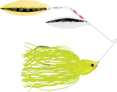 Fishing Its Raz-R-Blade High RPM blades offer maximum speed and flash. Changeable Perfect Skirt. Sharp Gamakatsu hook. Double Willow blades. Made in USA. Per each. Sizes: 1/4 oz., 3/8 oz. Colors: (201)Super Chartreuse, (203)Chartreuse White, (204)Super White, (209)Blue Shad, (257)Smokey Shad, (586)Sexy Blue Back Herring, (590)Sexy Shad. Color: Chartreuse. Type: Spinnerbaits. - $7.49