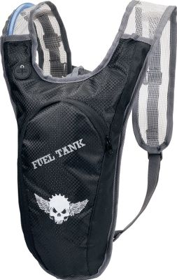 Camp and Hike Stay hydrated on those long motorcycle trips with this convenient 1.5-liter hydration pack. Drip-free, dual-action bite valve delivers ample thirst-quenching flow. Active suspension harness absorbs shock and features breathable mesh shoulder straps for long-term comfort. Adjustable sternum strap provides a custom fit. One small storage pocket for securing valuables. Reflective accents enhance low-light visibility. Jetflow hydration compatible. Imported.Dimensions: 16H x 6W x 2D.Color: Black. Type: Hydration Packs. - $14.88