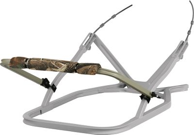 Hunting Fully adjustable, aluminum gunrest fits most Summit climbing treestands and is outfitted with a Realtree AP camo padded front bar. Mounts to the following Summit models with NO modifications - Viper (all models), Razor, 180, Cobra (excluding X4 model with climbing bar), Python, Revolution, Mini-Viper, Bushmaster, Single Shot, MegaSampson. DOES NOT FIT Goliath, 180 Max, Titan. Fits Bullet, Broadhead but prevents the stand from packing flat. CAUTION - THIS PRODUCT IS NOT TO BE USED AS A CLIMBING BAR! Camo pattern: Realtree AP. Type: Gun Rests. - $44.99