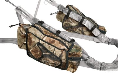 Hunting A pair of zippered storage bags tapered to fit under the armrestsof Summit treestands and many others. Imported.Camo pattern: Realtree AP. Type: Storage Bags. - $44.99