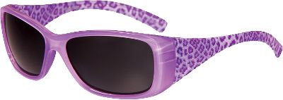 Entertainment Glittery, leopard-print sunglasses with a sassy flair are the perfect fit for your little girl, designed by Sunbelt specifically to fit childrens faces. Theyre made from high-quality, durable materials, and have high-impact-resistant polycarbonate lenses that are shatterproof and block 100% of harmful UVA/B/C rays. The lenses are also polarized to reduce glare coming off the waters surface. Lead- and phthalate-free, and ANSI Z80.3 certified. Limited lifetime warranty. Gender: Female. Age Group: Kids. Type: Polarized. - $16.99
