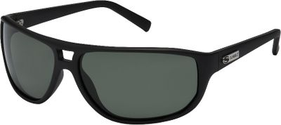 Entertainment Larger lenses on a stylish black frame make these sunglasses great for the deck or the dock. The comfort-fit frame geometrically fits your face well, while the optically correct contour of the lenses makes them comfortable to look through all day. Highly impact-resistant polarized lenses reduce glare and block 100% of harmful UVA/B/C rays. Scratch-resistant polycarbonate lenses. Sunbelt lifetime warranty. Size: Medium. Size: M. Color: Black. Gender: Male. Type: Polarized. - $29.99