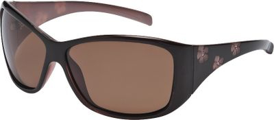 Entertainment These stylish and feminine sunglasses are accented with engraved hibiscus silhouettes on the temples and adorned with rhinestones a fun choice for your eyewear sun protection. The comfort-fit frame geometrically fits your face well, while the optically correct contour of the lenses makes them comfortable to look through all day. Highly impact-resistant polarized lenses reduce glare and block 100% of harmful UVA/B/C rays. Scratch-resistant polycarbonate lenses. Sunbelt lifetime warranty. Gender: Female. Age Group: Adult. Type: Polarized. - $29.99