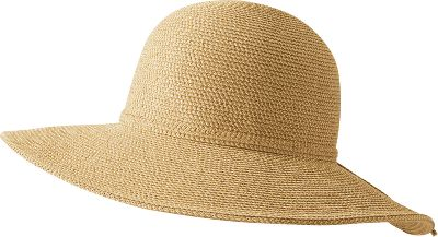 Fashionable sun protection in an ultrawide-brimmed style. 4 brim shades your face and protects your ears from harmful rays. The tightly woven paper/cotton hat makes for an easy travel companion with its compressible crown. Coordinated braided tie features slip knot to size down. UPF rating of 50+. One size fits most. Imported. Weight: 6.9 oz. Colors: Natural, Tweed. - $19.88
