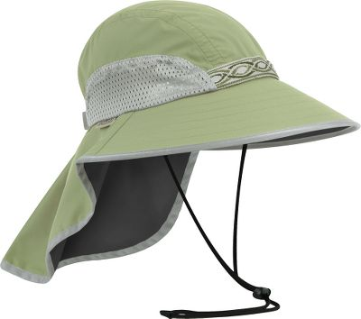 Made with everything youll need to keep shaded and protected from sun exposure. Down-sloped brim and 7.5 neck cape in the back offer full shading. UPF rating of 50+ protects your head from harmful rays. Solid-core foam brim floats if it falls in the water. Packs flat to store in a carry bag. Ventilating mesh side panels. Chin strap with adjustable cord lock. Quick-drying nylon. Imported. Wt: 3 oz. Sizes: Medium (head circumference: 21-23), Large (head circumference: 23-25). Colors:Lapis, Cream/Sand, Chaparral/Charcoal, Sand/Black, White. Size: Medium. Color: Chaparral/Charcoal. Gender: Female. Age Group: Adult. Material: Nylon. Type: Hats. - $39.00