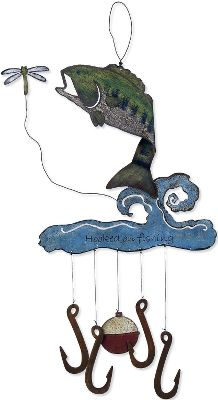 Camp and Hike Whimsical handmade chimes that make great garden or home accents. Suitable for indoor and outdoor use. Available:Moose Chimes Rustic wooden chime with metal antlers. Pine trees dangle below the chimes. Bass Chimes This bass is certainly hooked on fishing. Jumping bass features bobber and hook. - $14.88