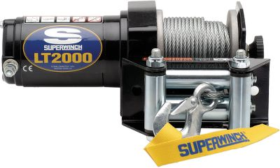"Motorsports A powerful pulling system at a powerfully enticing price. A full 2000 lbs. of tow-out power is at your fingertips with this handlebar-controlled winch system. The low-amp-draw 1-hp motor turns three-stage differential planetary gears for torque-rich performance. Pull-and-turn freespooling clutch. Dynamic braking. Circuit-breaker protected. Includes 49 ft. of 5/32"" steel cable, pulley block, roller fairlead, handlebar switch, D-Shackle and a latched hook with rope thimble.Dimensions: 11""L x 4.1""D x 4.1""H. Weight: 14-1/2 lbs. Type: ATV / UTV Winches. Lt2000. - $80.88"
