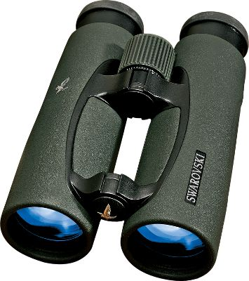 Hunting Swarovski EL Swarovision 8x32 Binoculars redefine optical quality. Featuring revolutionary Swarovision Technology, which is a combination of Fluoride HD optics, field flattener lenses and large eye relief, ensuring impressive image resolution over the entire field of view, even for eye glass wearers. New focusing mechanism for fast, precise focusing. Removable twist-in eyecups adjustable to three stages. Enhanced coatings for maximum color fidelity guarantee absolutely lifelike color reproduction and outstanding image brightness, even at dusk. Swaroclean coating on external lens are applied so dirt, water marks, tree resin, etc. can be removed effortlessly. Rugged, lightweight magnesium housing. Includes bag, new objective lens covers, and strap. Type: Full-Size. - $1,759.88