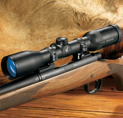 Hunting The Z6 riflescope was developed to accommodate hunters from Africa to Alaska and everywhere in between. This innovative breakthrough in optical engineering provides a complete overview of the terrain, thanks to the larger field of view, while allowing you to accurately identify details at high magnification. Plus, youll enjoy the highest level of image quality and eye relief ever offered in a Swarovski scope. Available in both illuminated and non-illuminated models. Like all Swarovski scopes, it is waterproof, fogproof and has a scratch-resistant finish, and each scope has Swarovskis patented four-point coil-spring system. HD Lenses in illuminated models 2.5-15x44, 2.5-15x50, 3-18x50, and 5-30x50. Type: Riflescopes. - $1,639.00