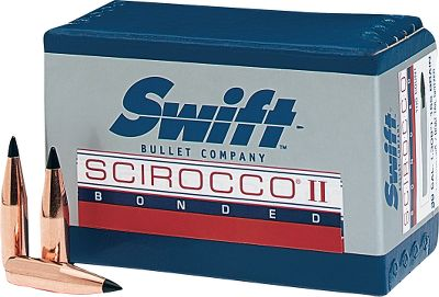 Scirocco's polymer Signature Black Tip initiates deadly expansion and is precisely shaped to reduce frontal air resistance and deliver a high ballistic coefficient. A progressively tapered pure copper jacket controls expansion on game through a wide range of velocities. Jacket and core are bonded together using proven Swift bonding technology. Engineered for optimal rotational stability. Thick boattail base reduces drag in flight, eases bullet seating when reloading and prevents bullet deformation in high-velocity magnum calibers. Per 100. A-Frame's pure lead core is bonded to a progressively tapered, pure copper jacket. An A-Frame cross member controls rate of expansion, while retaining weight in all calibers over a wide range of velocities. The protected rear core retains momentum for superior penetration. A semi-spitzer nose profile blends flight performance with the ability to withstand recoil impact in a magazine to prevent tip deformation. Per 50. Color: Copper. - $59.99